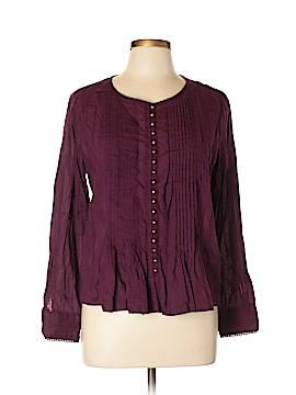 Maeve Long Sleeve Button-Down Shirt Size L (Petite)