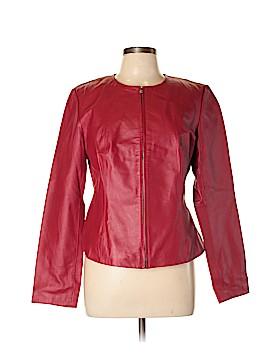 Newport News Leather Jacket Size 10