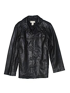 Merona Leather Jacket Size M