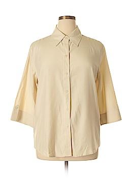 Joanna 3/4 Sleeve Button-Down Shirt Size XL