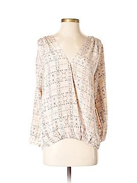 MYNE Ashley Ann Long Sleeve Silk Top Size 2