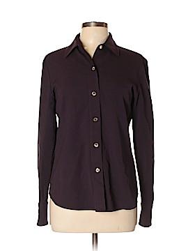 Linda Allard Ellen Tracy Long Sleeve Button-Down Shirt Size 8