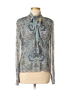 AK Anne Klein Long Sleeve Silk Top Size 2