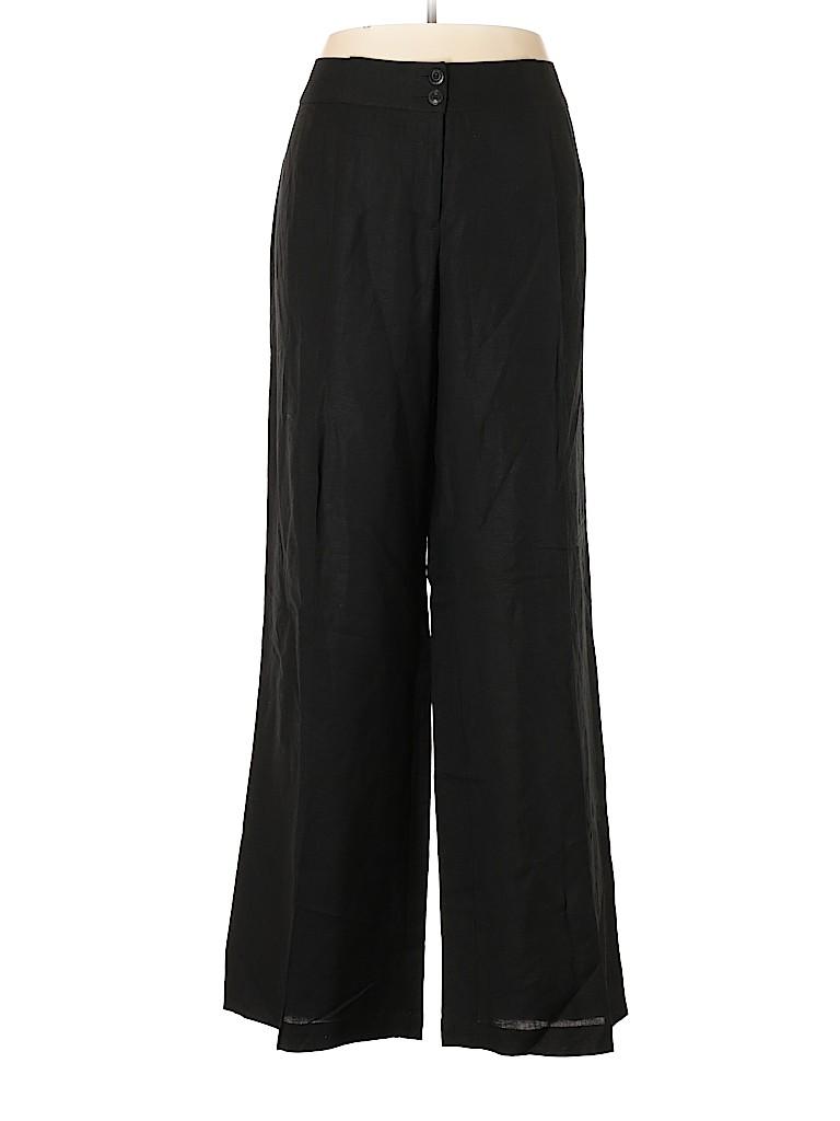 58be831c7d514 Lane Bryant Solid Black Linen Pants Size 20 Tall (4) (Plus) - 70 ...