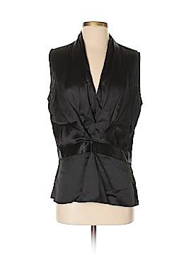 Trovata Short Sleeve Silk Top Size L