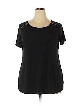 Ellen Tracy Short Sleeve Blouse Size 1X (Plus)