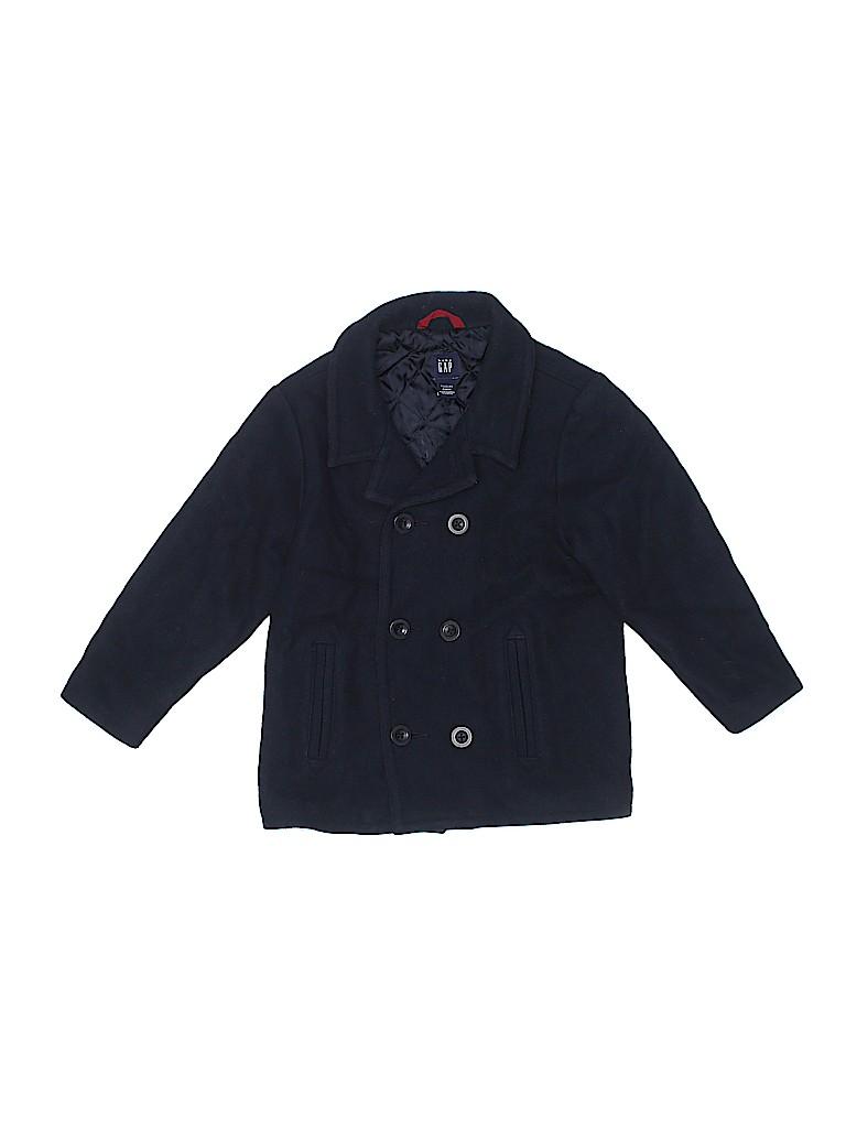 bcbe73bbe6108 Baby Gap Solid Dark Blue Coat Size 5 - 63% off