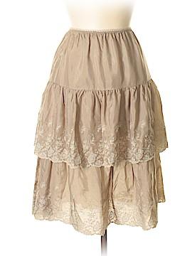 Gold Hawk Silk Skirt Size M