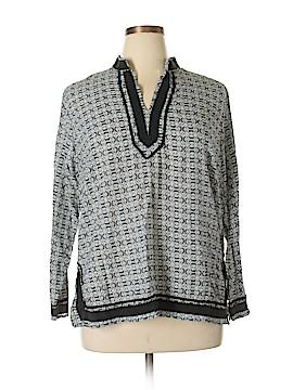 Saint Tropez Long Sleeve Blouse Size 1X (Plus)