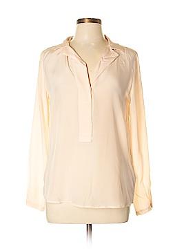 Massimo Dutti Long Sleeve Silk Top Size 8