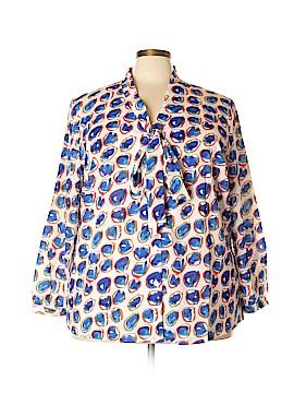 Jete Long Sleeve Blouse Size 3X (Plus)