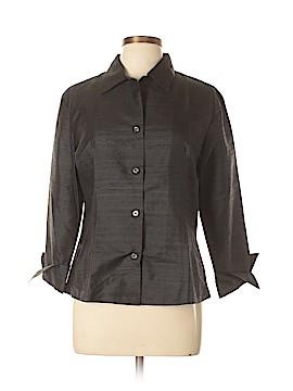 Silk Box Long Sleeve Silk Top Size 10