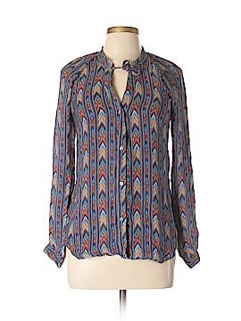 Jamison Long Sleeve Silk Top Size M