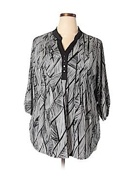 Robert Louis 3/4 Sleeve Blouse Size 3X (Plus)