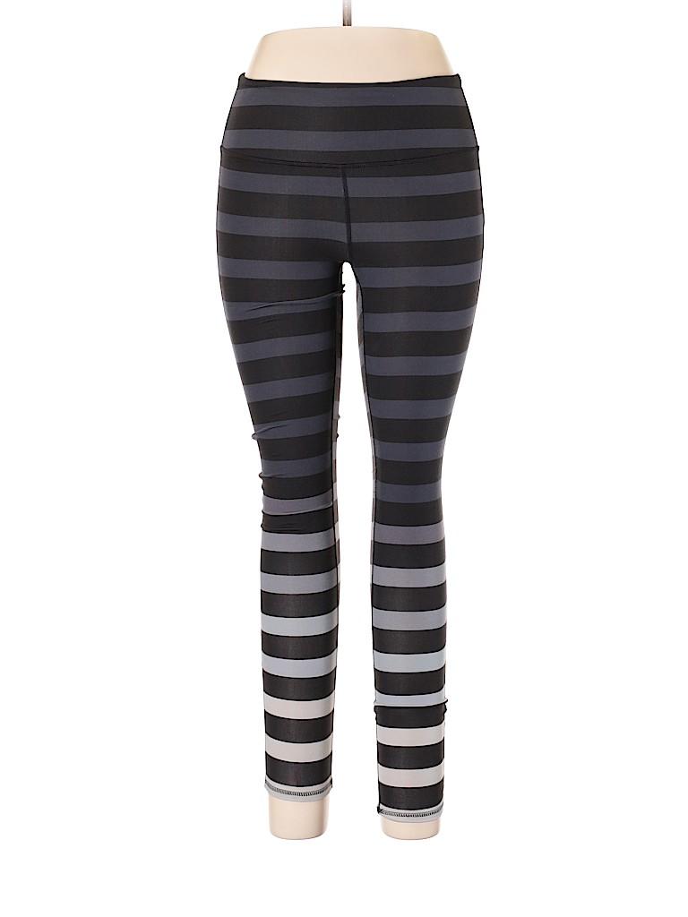 4aca27bac7e3c Athleta Stripes Gray Leggings Size M - 56% off | thredUP