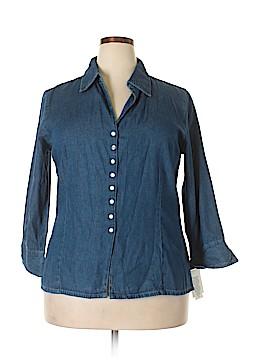 Keren Hart Long Sleeve Button-Down Shirt Size XL