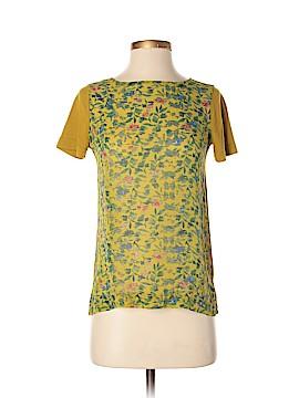 Hi-Line Short Sleeve Silk Top Size XS
