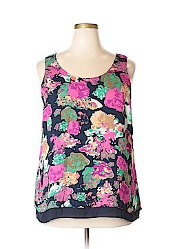 Dalia Collection Sleeveless Blouse Size 1X (Plus)