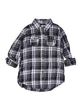 Passport 3/4 Sleeve Button-Down Shirt Size L