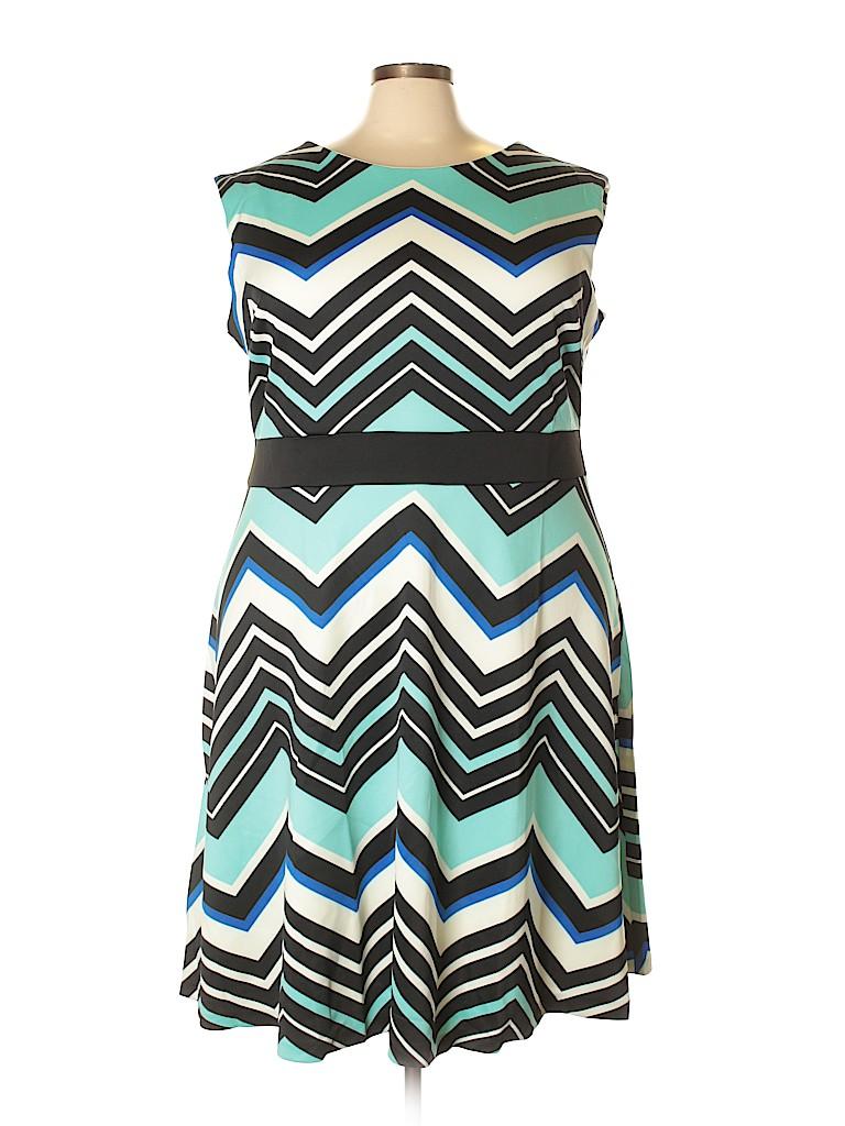 Sandra Darren Women Casual Dress Size 22w (Plus)