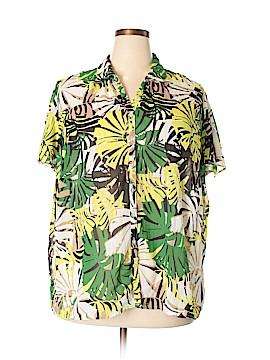 Fashion Bug Short Sleeve Button-Down Shirt Size 1X (Plus)