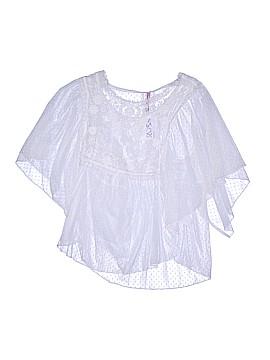 Mauve Short Sleeve Blouse Size L