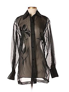 Linda Allard Ellen Tracy Long Sleeve Blouse Size 4