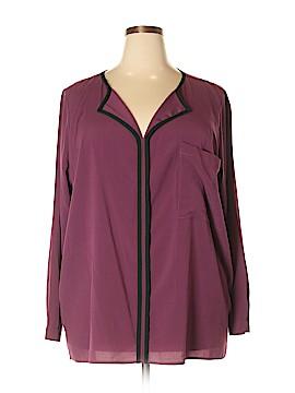 Eloquii Long Sleeve Blouse Size 24 (Plus)