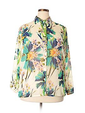 BonWorth Long Sleeve Blouse Size L (Petite)