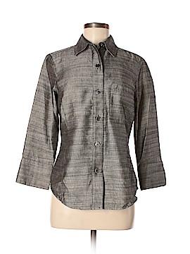 Linda Allard Ellen Tracy 3/4 Sleeve Silk Top Size 4