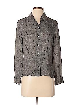 Caslon Long Sleeve Silk Top Size S (Petite)