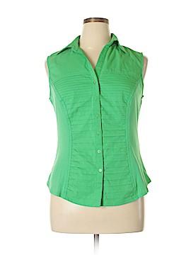 Zac & Rachel Sleeveless Button-Down Shirt Size XL