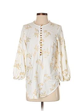 Floreat 3/4 Sleeve Button-Down Shirt Size S
