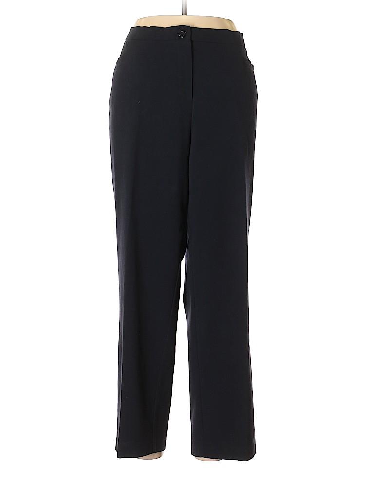 1415276a6a DressBarn Solid Dark Blue Dress Pants Size 16 - 62% off