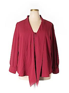 Denim 24/7 Long Sleeve Blouse Size 24 (Plus)