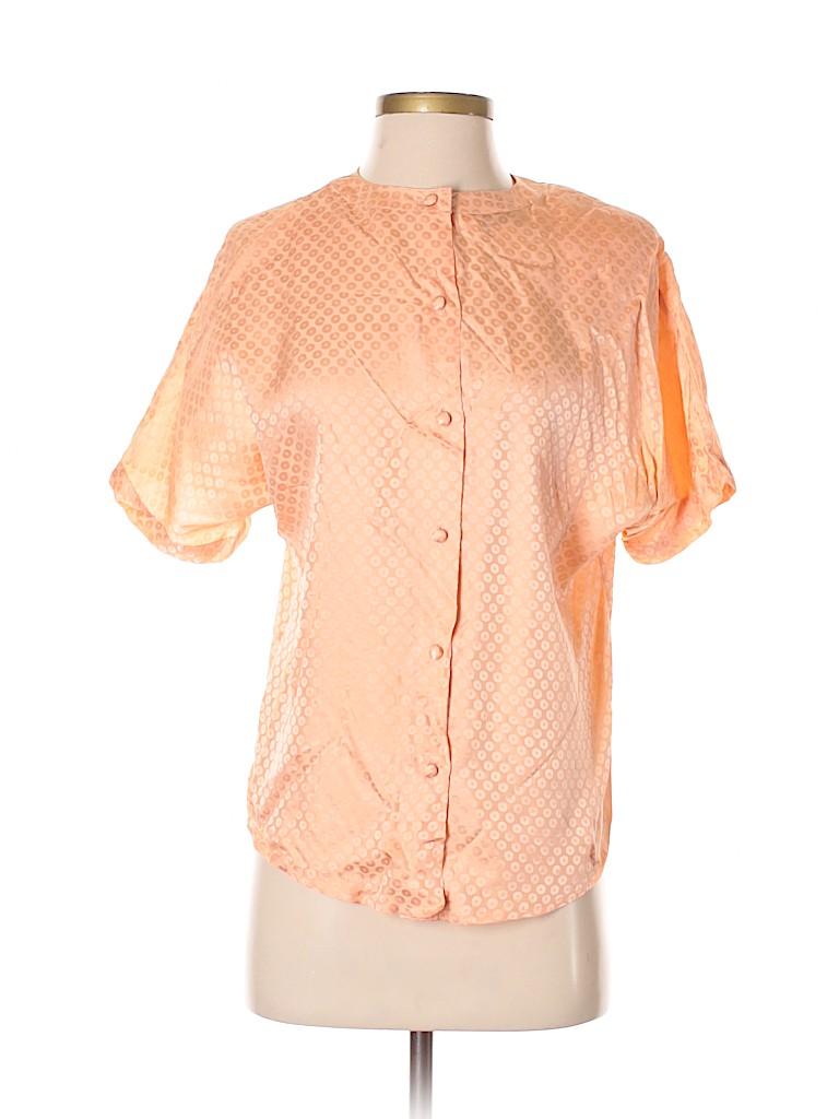 Doncaster Women Short Sleeve Silk Top Size S