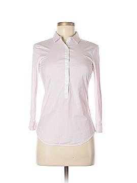 Zara Basic 3/4 Sleeve Button-Down Shirt Size S