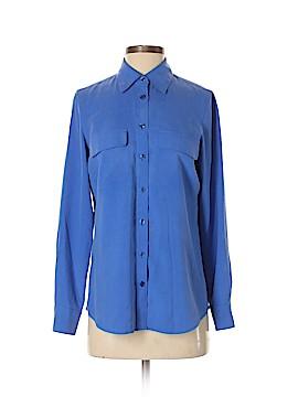 Go Silk Long Sleeve Silk Top Size S