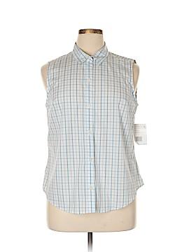 Villager Sleeveless Button-Down Shirt Size 16