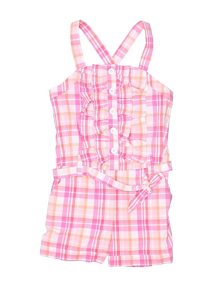 fae939c1118 Gymboree 100% Cotton Plaid Pink Romper Size 6 - 83% off