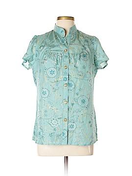 Rachel Mara Short Sleeve Silk Top Size L