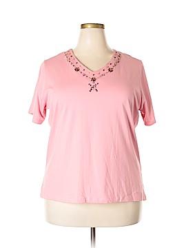 Denim Co Short Sleeve Top Size 1X (Plus)