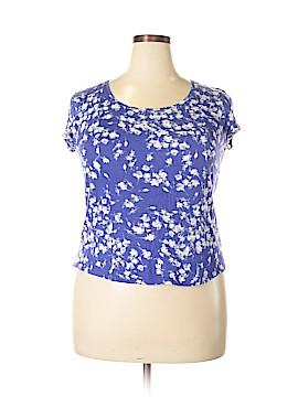 Simply Vera Vera Wang Short Sleeve Blouse Size XXL