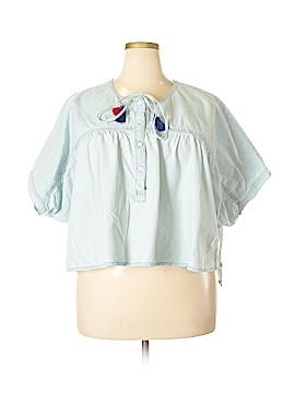Lucky Brand Short Sleeve Button-Down Shirt Size XL