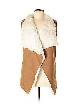 Steve Madden Faux Fur Vest Size Med - Lg