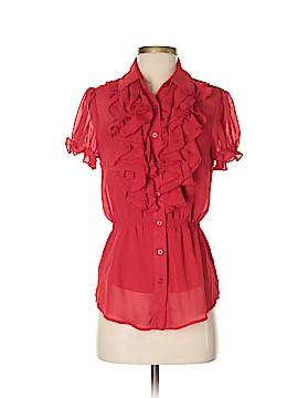 DM Donna Morgan Short Sleeve Blouse Size S