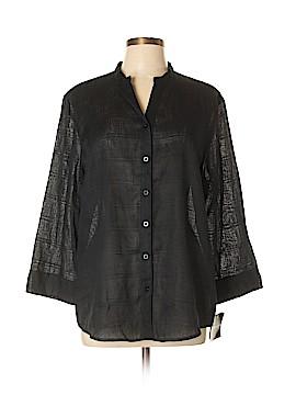 Sag Harbor Long Sleeve Button-Down Shirt Size L
