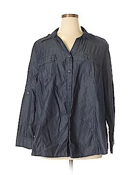Roaman's Long Sleeve Button-Down Shirt Size 24w (Plus)