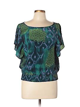Matty M Short Sleeve Silk Top Size L