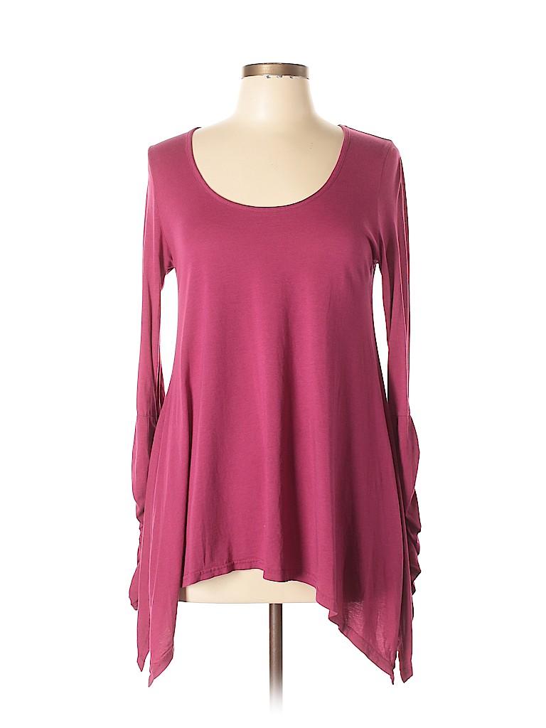 a174d21cf4d Bobi Solid Pink Long Sleeve Top Size L - 55% off